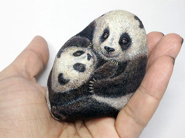 Batu biasa bertukar menjadi haiwan kecikk comel _ blog LUBUK SENI 05
