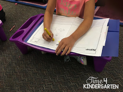 lap desk for flexible seating in kindergarten