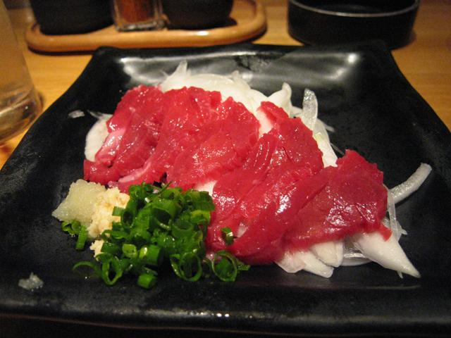 Sakura Horse Sashimi. Tokyo Consult. TokyoConsult.