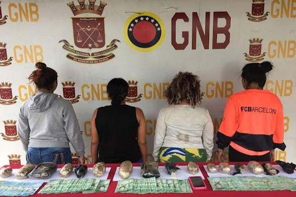 Mujeres traficantes de droga fueron capturadas en el Táchira