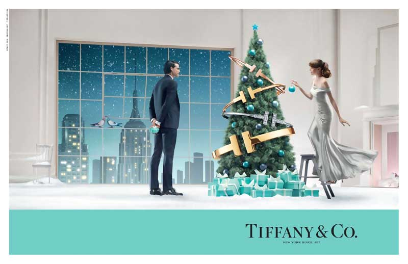 Tiffany & Co. Christmas 2014 Campaign featuring Valeria Garcia