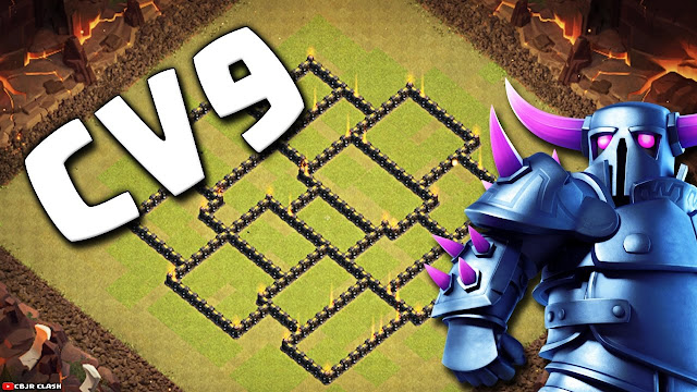 Layout Anti PT para CV9 - Clash of Clans 2017