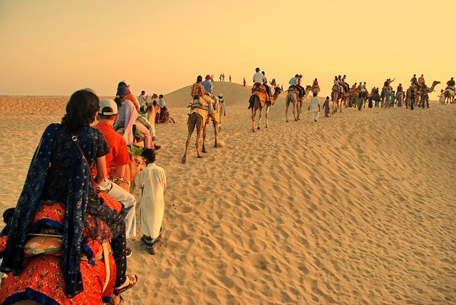 Camel Safari in Sam Sand Dunes, Jaisalmer
