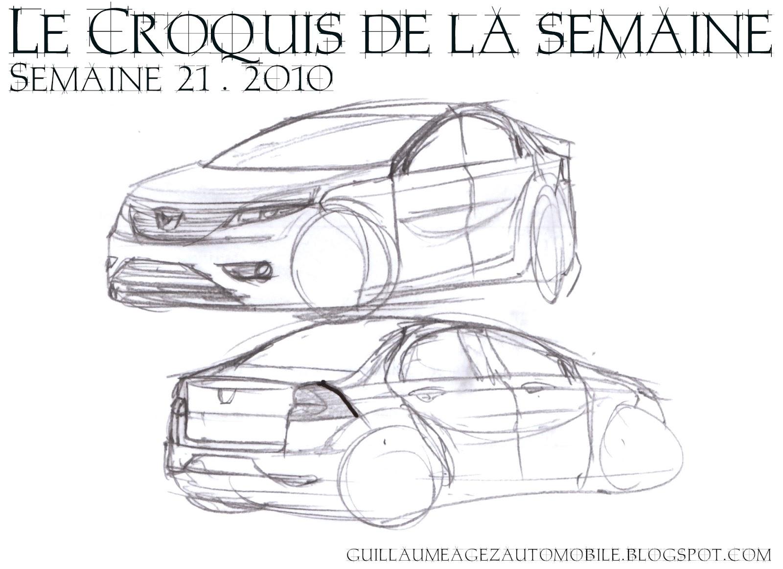 Guillaume Agez Automobile Le Croquis De La Semaine 21