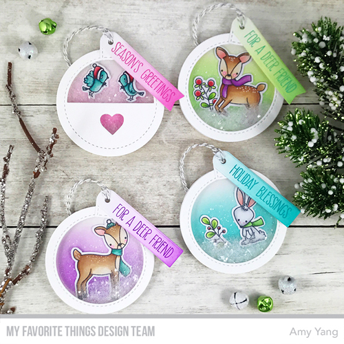 Handmade tags by Amy Yang featuring products from My Favorite Things #mftstamps