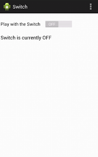 Android switch button OFF state