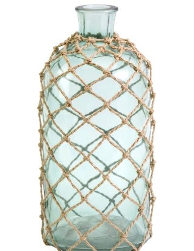 rope net bottle vases nautical decor idea