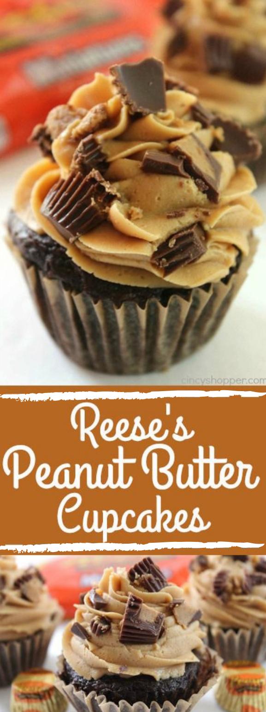 REESE'S PEANUT BUTTER CUPCAKES #cupcake #peanut