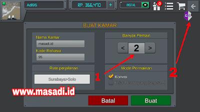 cara membuat room konvoi BUSSID lebih dari empat pemain