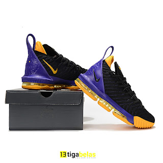 6012f96dc63 tigabelas store  NIKE LEBRON 16 LOW PE Lakers