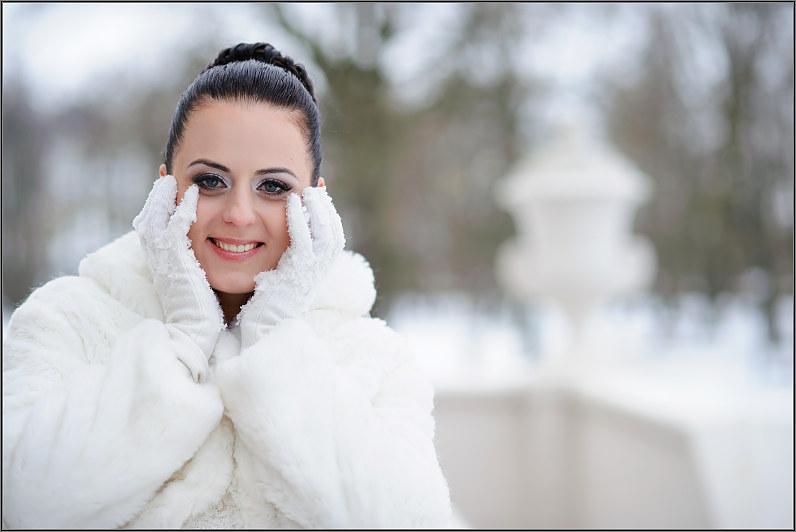 vestuvių fotosesija žiemą Panevėžyje