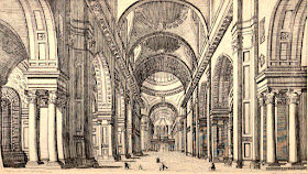 Interior of St Paul's Cathedral from London; being an accurate history and description of the British Metropolis and its neighbourhood by D Hughson (1808)