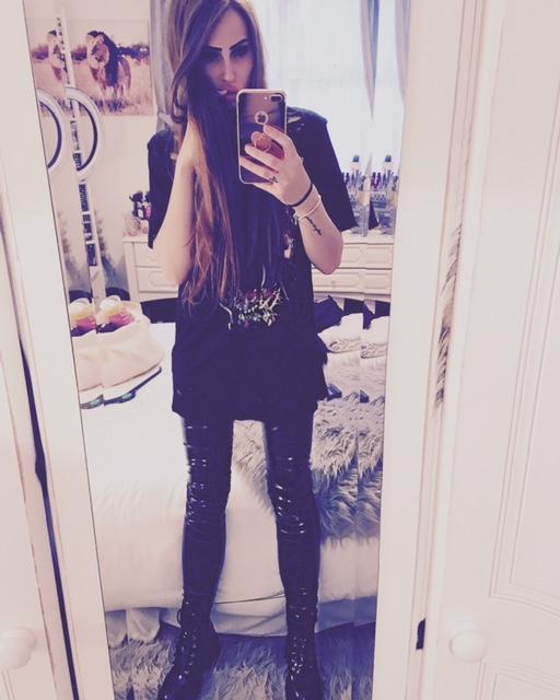 autumn, fashion, autumnfashion, pvc, vinyl, highshine, hm, newlook, primark, denimjacket, lfw, leatherjacket, laceup, pullandbear, platformboots, thigh high boots, makeup look, highstreet, on trend,