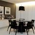 Luminárias de piso em salas de jantar e almoço - veja inspirações ótimas!