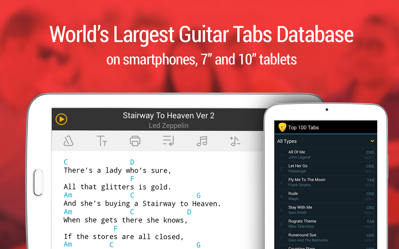 Guitar Tabs & Chords v3.6.4 [Unlocked] Apk