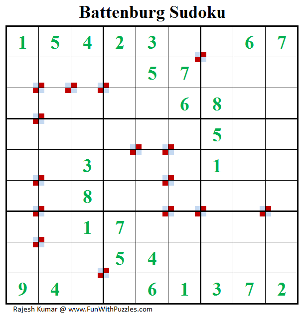 Battenburg Sudoku (Fun With Sudoku #187)