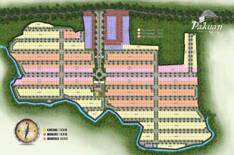 Siteplan Cluster Pakuan Village Paramount