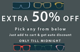 Flat 50% Off on Eyglasses Frame @ Lenskart (Limited Period Offer)