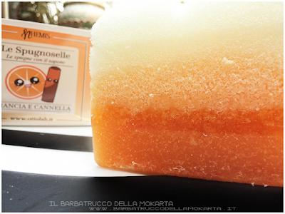 body soap vegan  Nhemis Cosmetics - spugnoselle - arancia cannella