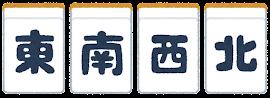 麻雀牌のイラスト(四風牌)