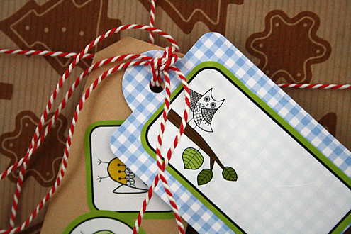 Giftwrap tags