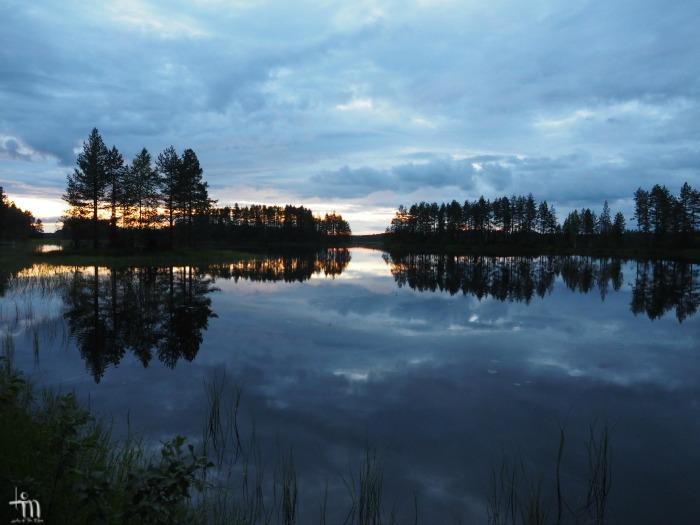 öinen järvimaisema Pohjois-Karjalassa heinäkuussa