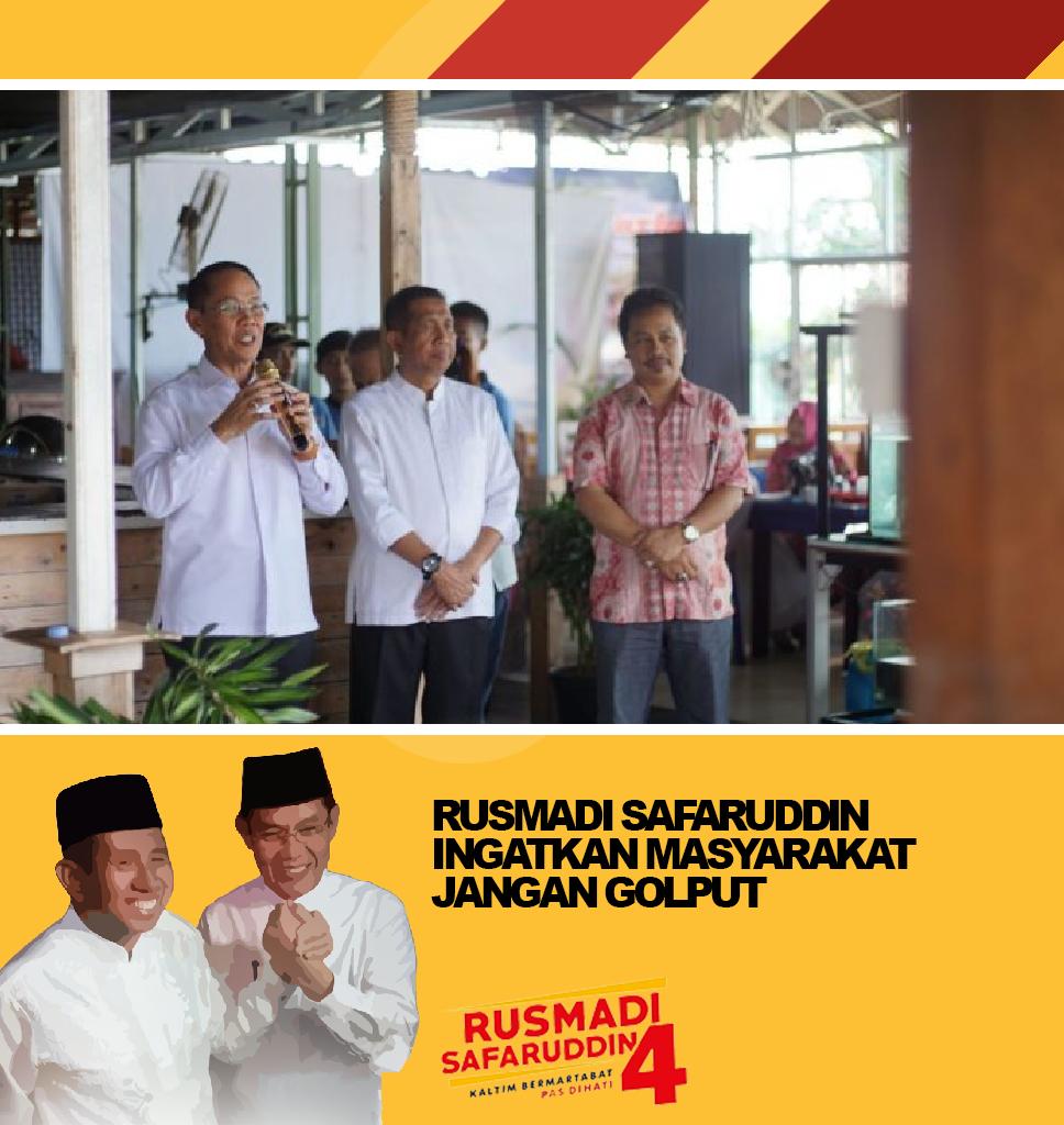 Rusmadi Safaruddin Ingatkan Masyarakat Jangan Golput