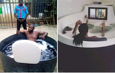 Image result for Move over Paul Okoye! This man's Jacuzzi is everything