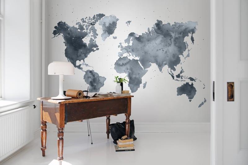 Mapa świata na tapecie