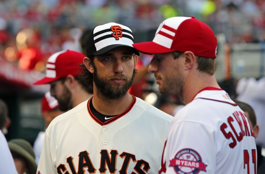 Here s a fun photo of MadBum as he s deciding which part of Max Scherzer s  face he d like to eat first. (Photo jacked from Around the Foghorn) 316b1f4add51