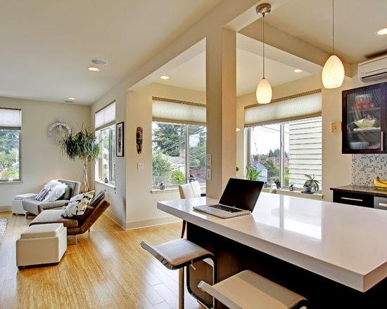 Hogares frescos dise o interior para apartamento tipo for Diseno de interiores departamentos modernos