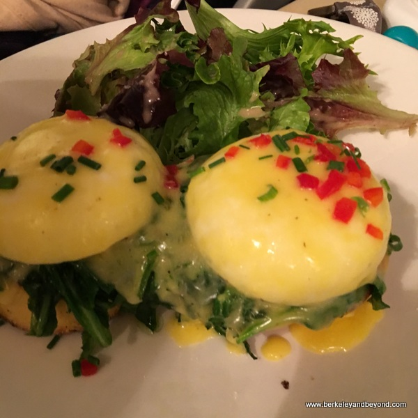 vegetarian eggs Benedict at Sarabeth's Upper East Side in NYC