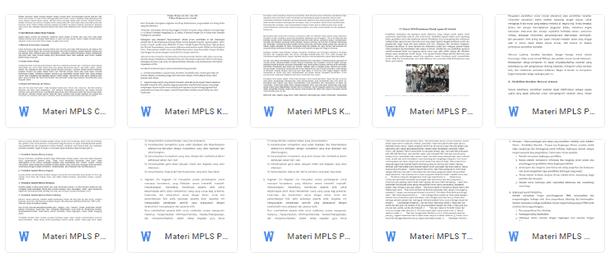 Materi MPLS (Masa Pengenalan Lingkungan Sekolah) Tahun 2019-2020