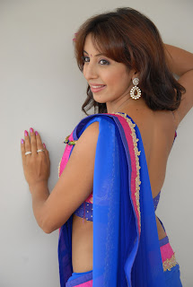 Sanjjanaa Galrani in Lovely Blue Saree