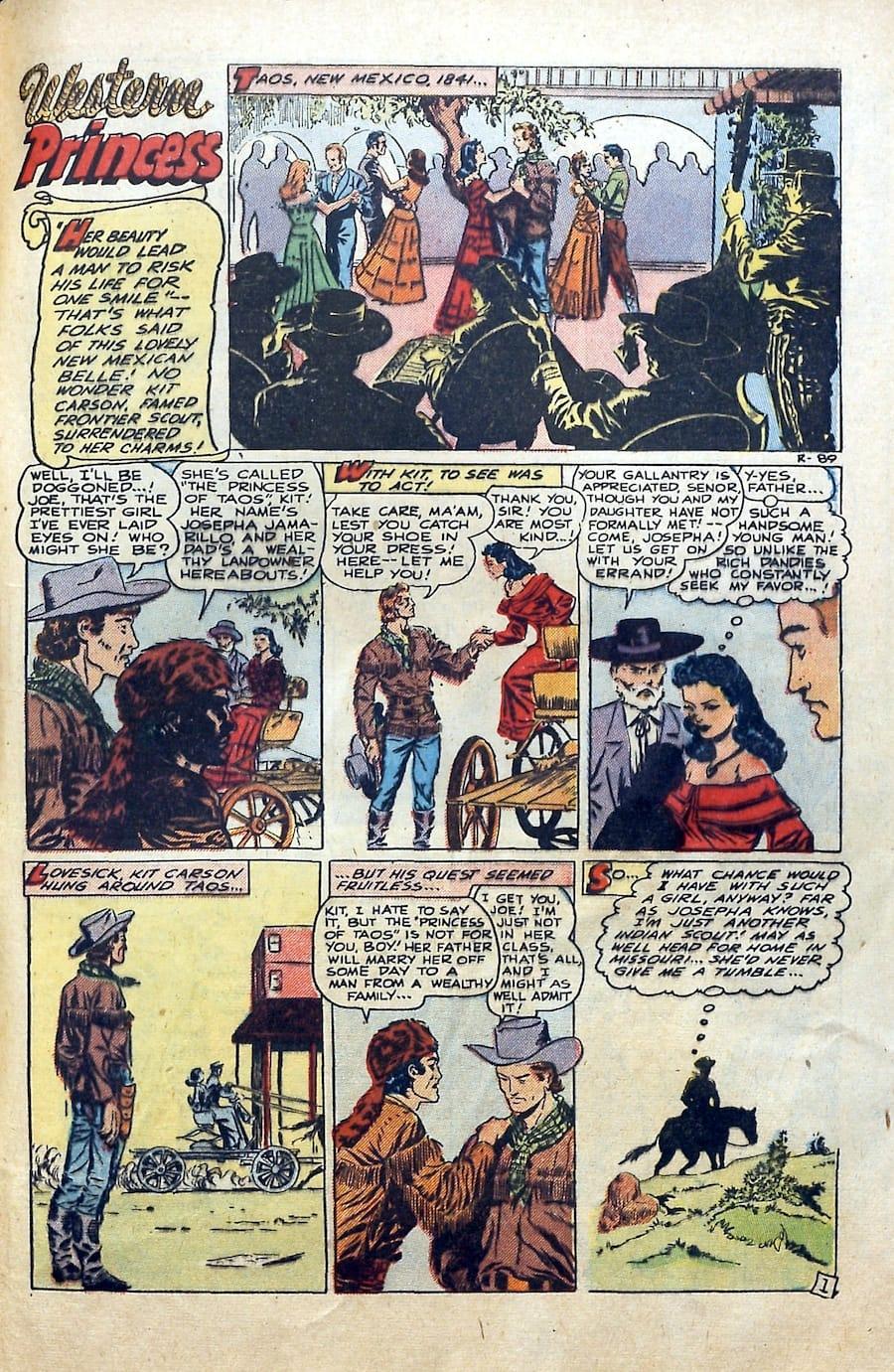 Al Williamson / Frank Frazetta golden age western romance comic book