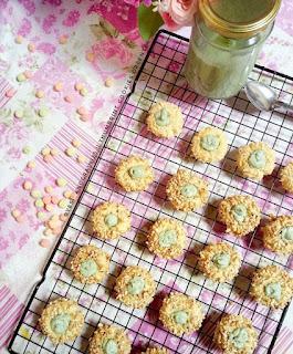 Ide Resep Kue Kering Thumbprint Cookies Greentea