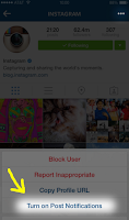 Effective Instagram Marketing by turning on notifications