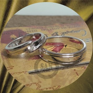 cincin emasputih perak p5747