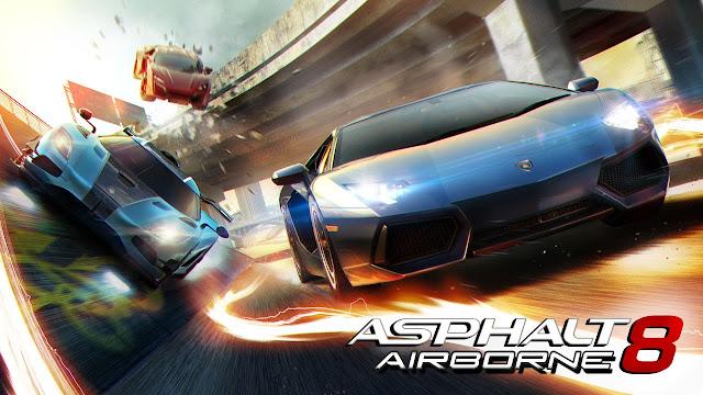 تحميل لعبة سباق السيارات اسفلت Asphalt 8 apk كاملة للكمبيوتر والاندرويد من ميديا فاير