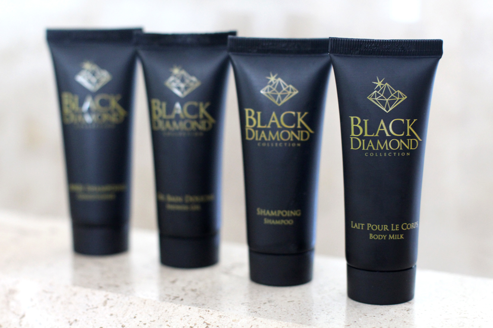 Black Diamond collection toiletries at Hotel Koh-I Nor in Val Thorens, Les Trois Vallees - luxury travel blog