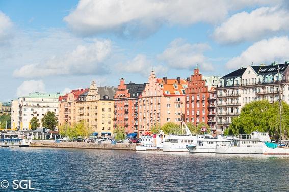 Boulevard strandvägen en Estocolmo