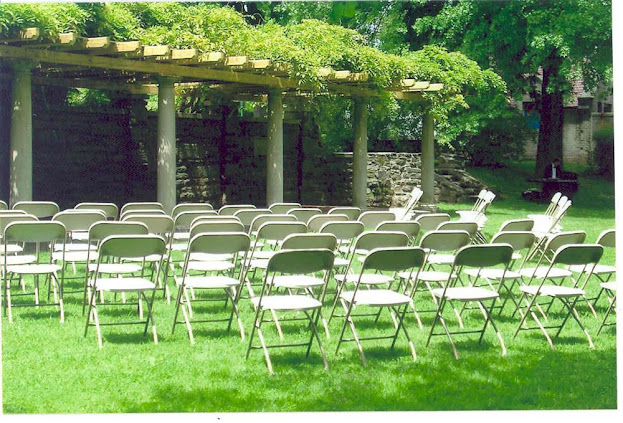 K'Mich Weddings - wedding planning - ceremony setup at Curtis Arboretum