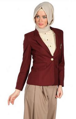 Contoh desain baju kerja muslim untuk guru