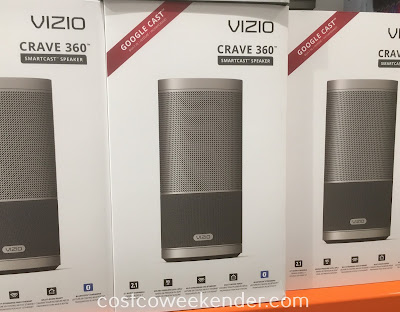 Listen to your favorite songs and playlists with the Vizio Crave 360 Smartcast Speaker (SP-50)
