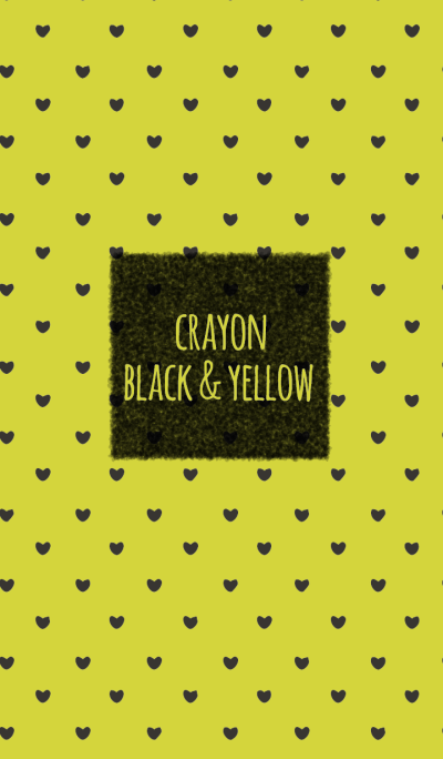 Crayon Black & Yellow / Heart