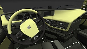 Olive Volvo FH 2012 interior
