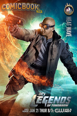 DC's Legends of Tomorrow Character Television Poster Set - Dominic Purcell as Heat Wave