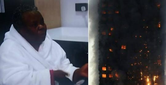 nigerian woman rescued grandson london fire