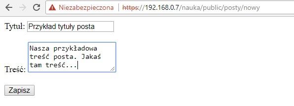 Nasz szkoleniowy formularz HTML