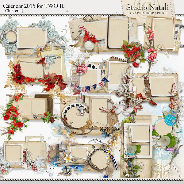http://shop.scrapbookgraphics.com/Calendar-2015-for-TWO-Clusters.html